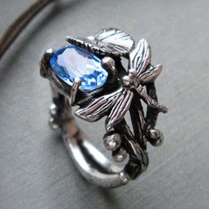Crystal Dragonfly Ring
